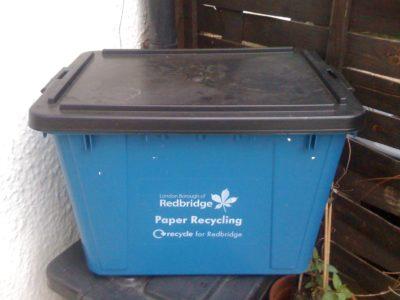 Wanstead blue recycling box