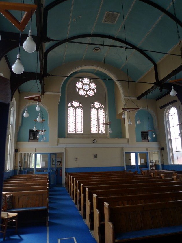 Interior of Cambridge Park Methodist Church, taken April 2010